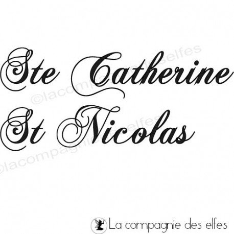 Tampon saint nicolas   tampon sainte catherine