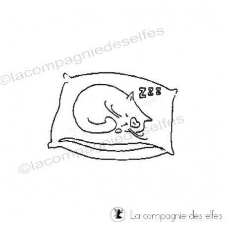 Tampon mon chat|my cat rubber stamp