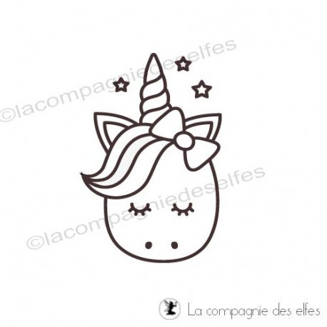 Tampon licorne| unicorn rubber stamp