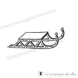 Tampon encruer luge | sled stamp | sledge rubber stamp