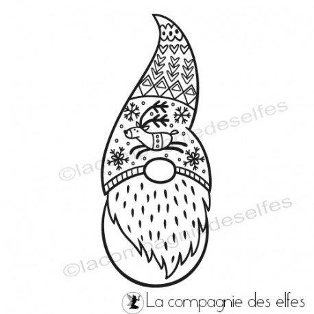 Leprechaun stamp | gnome rubber stamp